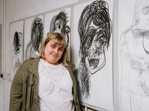 Cath Robertson, a local Jackfield artist, has treatment-resistant schizophrenia and autism, has her very own art exhibition at Studio 42 based out of the Maws Craft Centre, which is run by Studio manager Simon Rice..