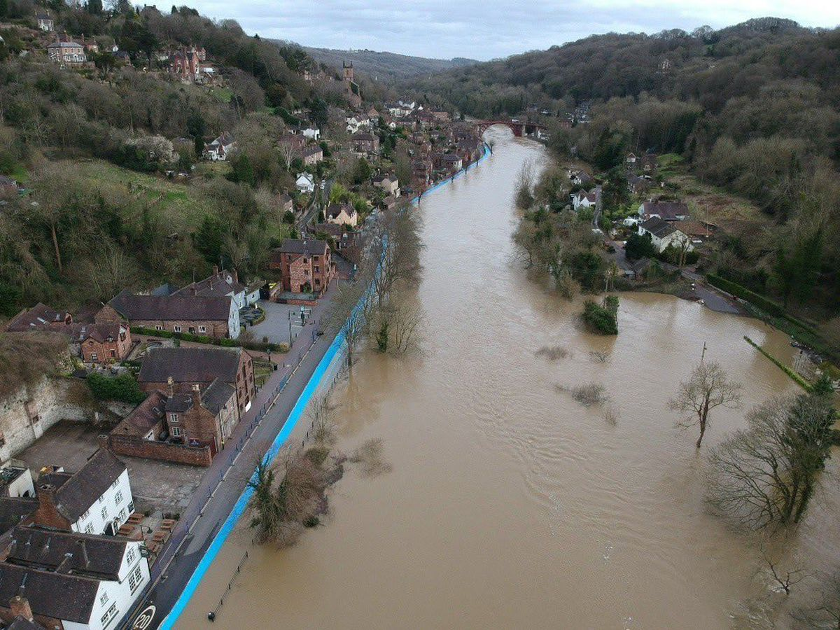 Aerial photos show the scene in Ironbridge on Tuesday. Photo: @Fatheadchris