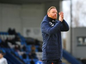 TELFORD COPYRIGHT MIKE SHERIDAN Gavin Cowan, Telford manager, during the Conference North fixture between AFC Telford United and Chester FC at New Bucks Head on Saturday, December 26, 2020...Picture credit: Mike Sheridan/Ultrapress..MS2021-051.