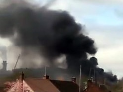 Crews tackle fire at Kronospan factory - with video