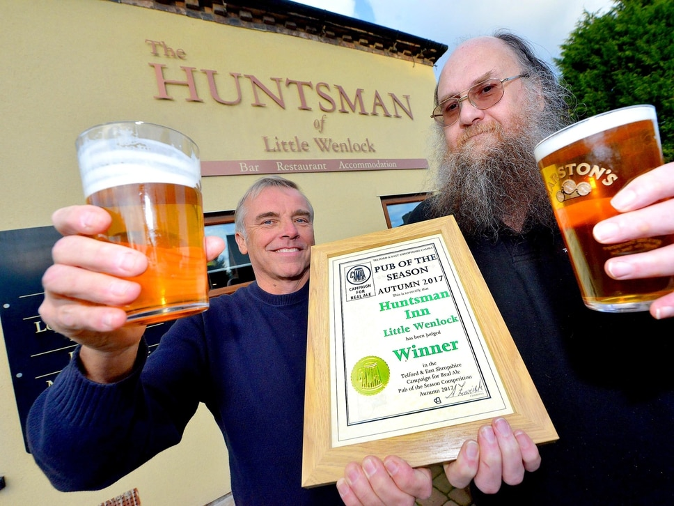 The Huntsman pub recognised by Telford CAMRA for its real ale