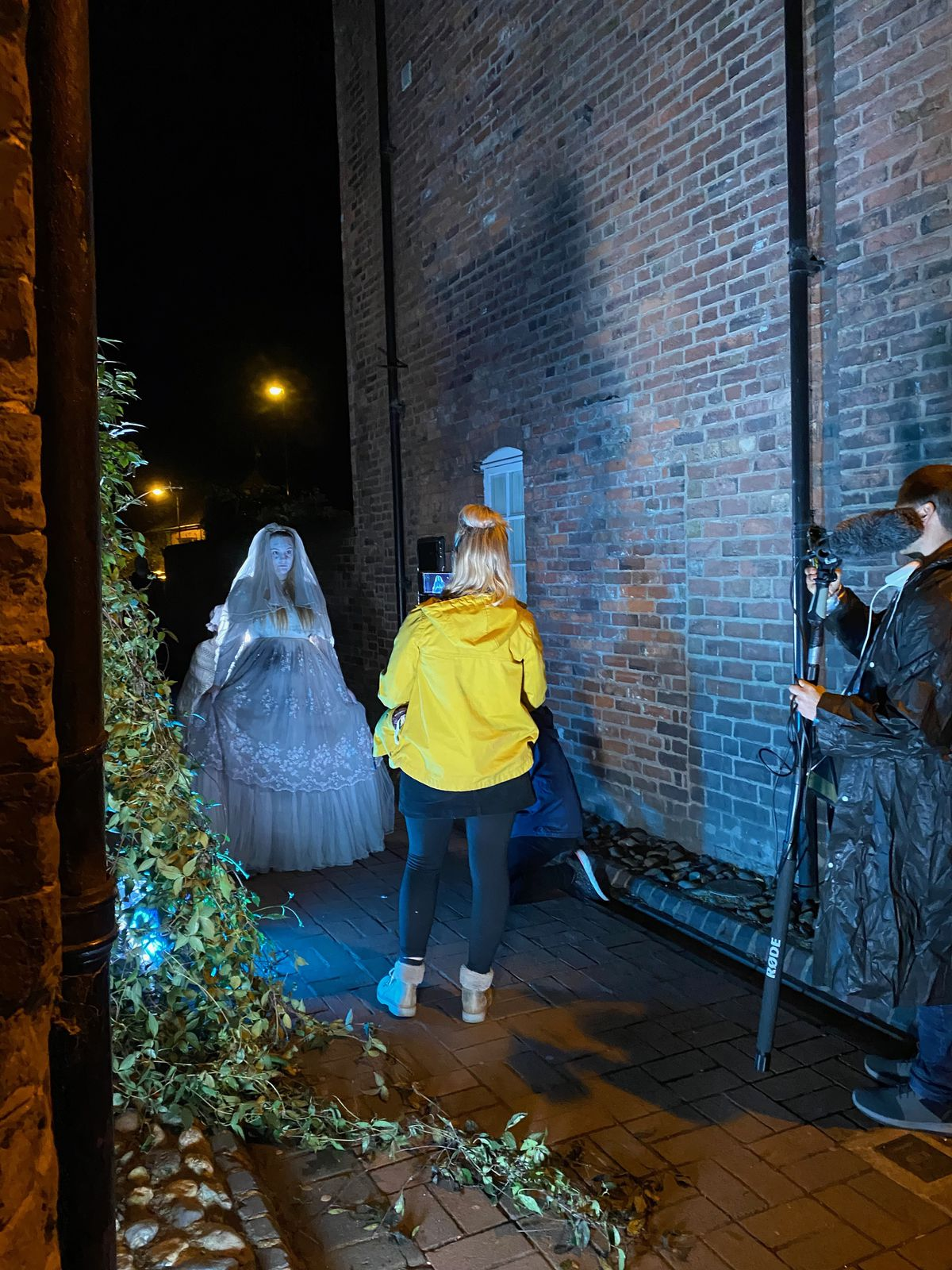 The film was recorded over several nights in September, with footage inside some of the locations that would not be possible on the Ghost Walk