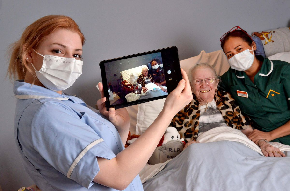 Portway House Specialist Care Centre, where they are using Zoom etc and technology to ensure relatives are kept in touch with residents