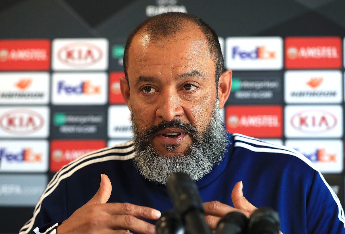 Nuno Espirito Santo in his pre-Braga press conference
