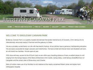 The Bridleway Caravan Park website