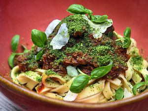 Meat in the middle – the beef ragout with fresh tagliatelle and Winchester hard cheesePictures by Russell Davies