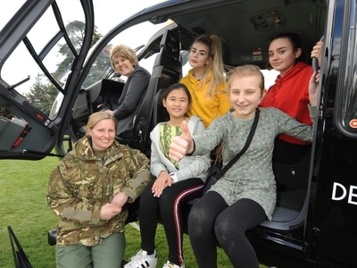 RAF swoops in for Shropshire school's challenge day