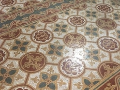 From dirty to delightful - Shrewsbury Cathedral's stunning Pugin floor gets a spring clean