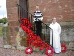 Cascading church poppies form tribute in Market Drayton