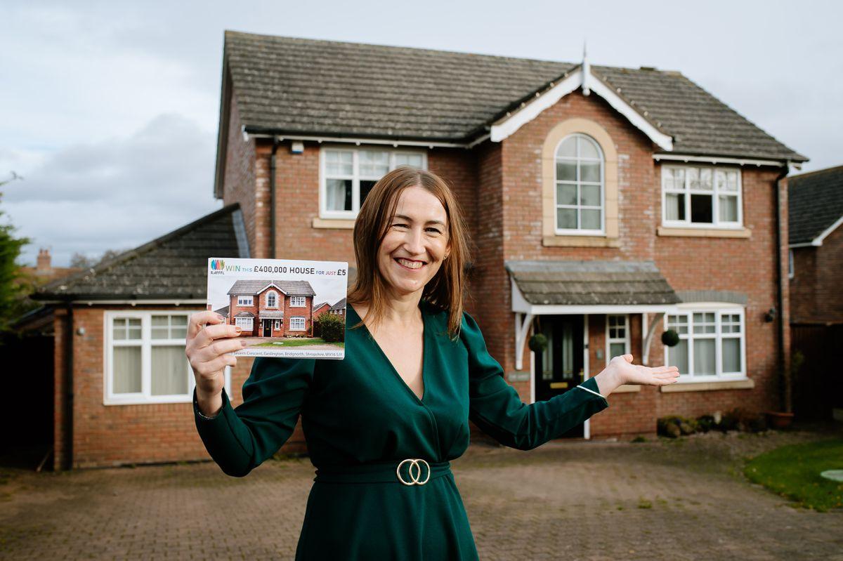 Rachel Overton is raffling her family home in Eardington near Bridgnorth
