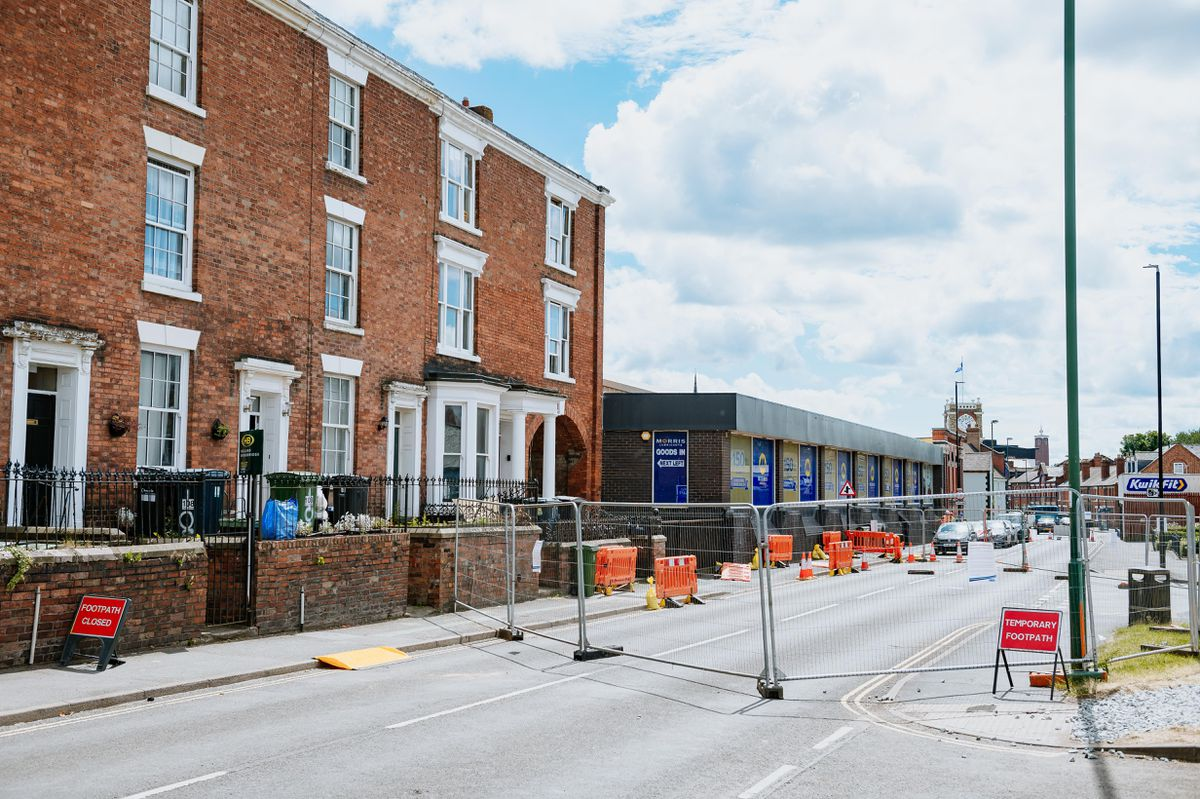 The road outside was first closed last month after the building was declared a danger to the public