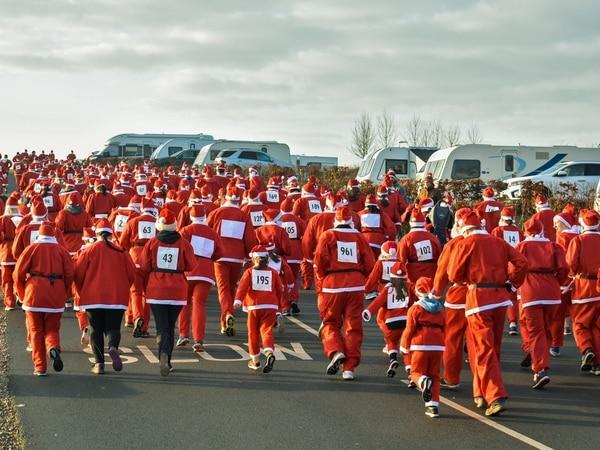 Santas full of festive cheer at Shrewsbury dash