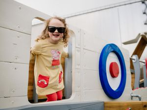 LAST COPYRIGHT SHROPSHIRE STAR JAMIE RICKETTS 17/05/2021 - RAF Cosford Museum has reopened today as the Lockdown Restriction has been eased in England. In Picture; Bryony Owen 4 from Codsall.