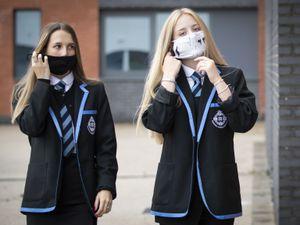 Pupils in face masks