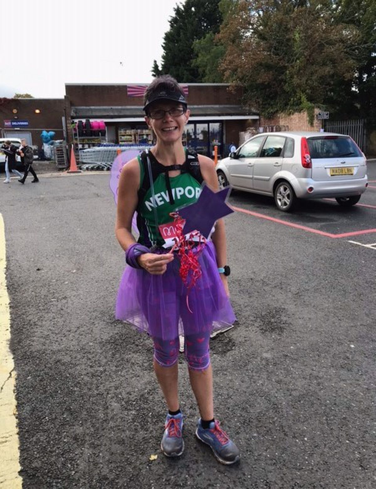 Joanne Lutner had always planned to run the marathon as a fairy