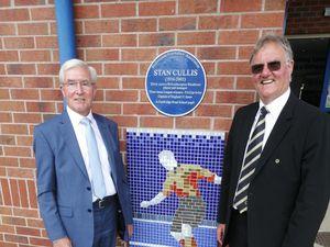 John Richards and John Gough at the unveiling