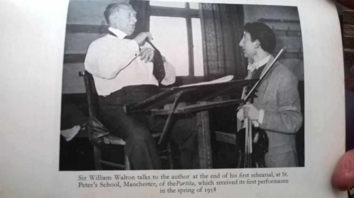 A young Malcolm Tillis with the composer and conductor William Walton in 1958