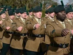 Homecoming parade for regiment based near Market Drayton