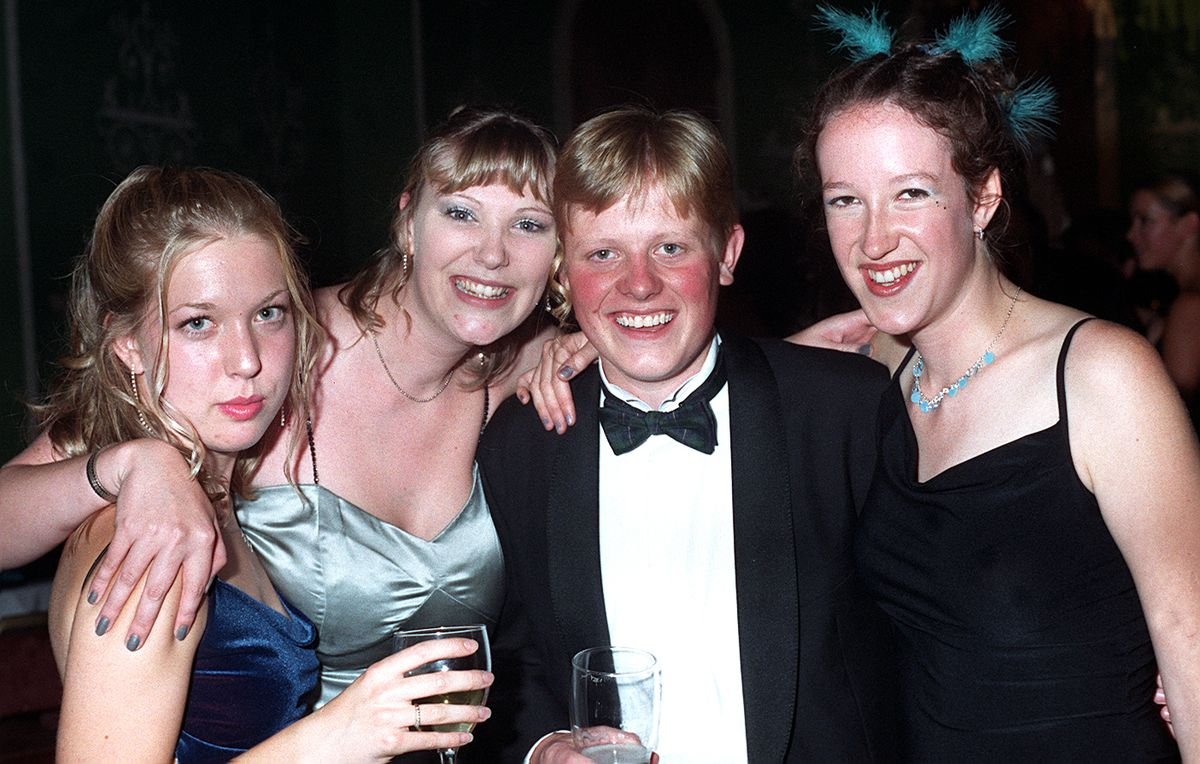 James Holt during a Shrewsbury Sixth Form College leavers' party at the Lion Hotel in 2000