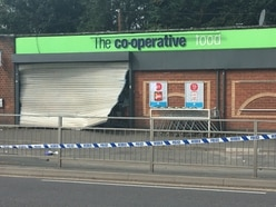 Chirk Co-op cordoned off by police after ram raid