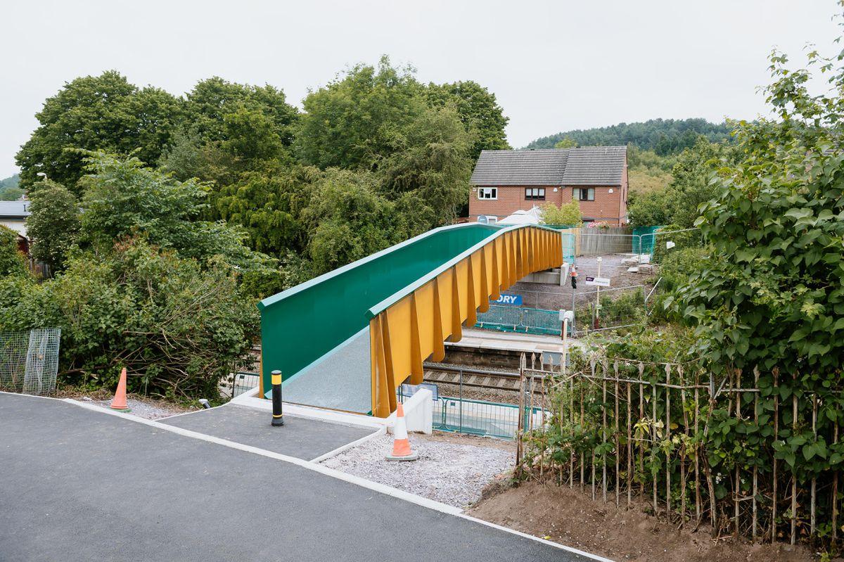 The new footbridge near Oakengates Station