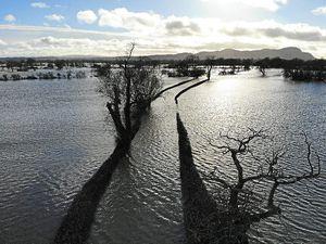 Flooding at Melverley. Photo: Chris Aitken