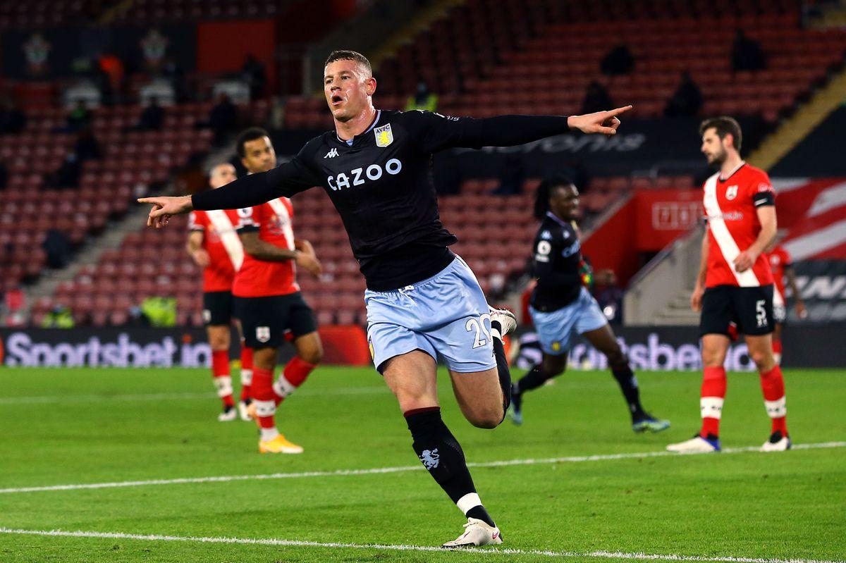 Aston Villa's Ross Barkley celebrates