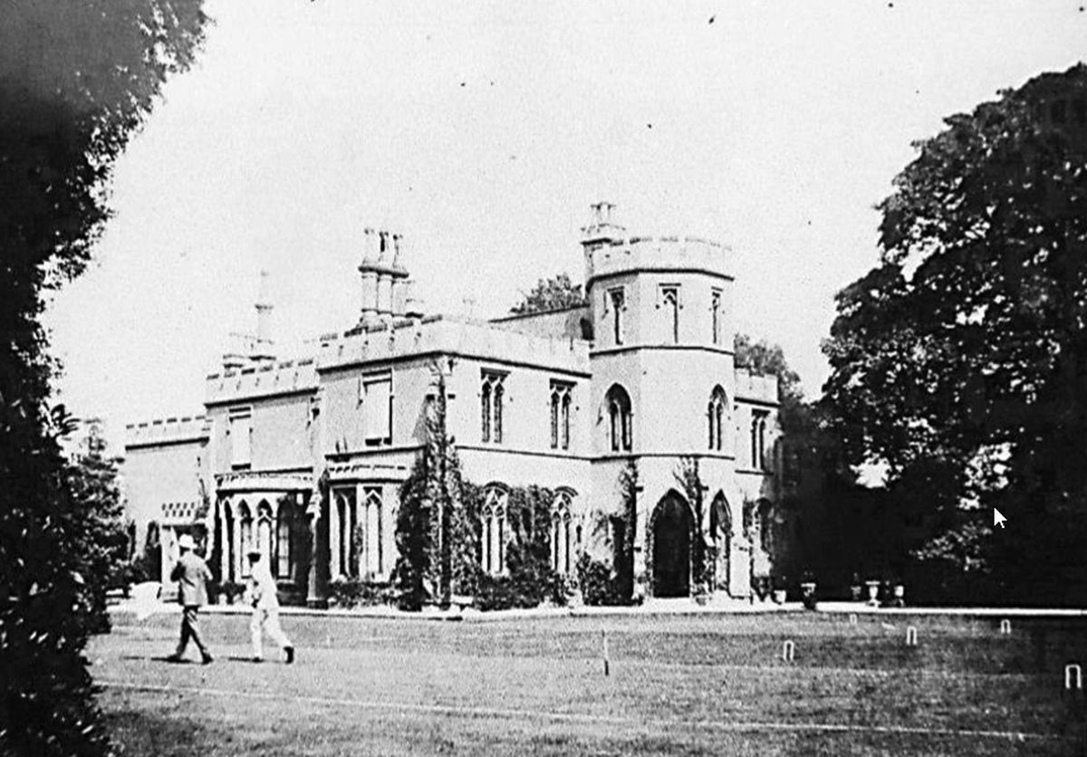 The croquet lawn around the 1930s.