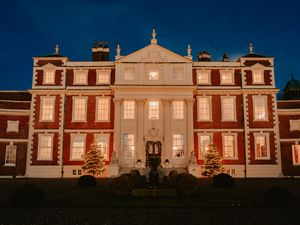 Hawkstone Hall near Shrewsbury is decked out ready for Christmas