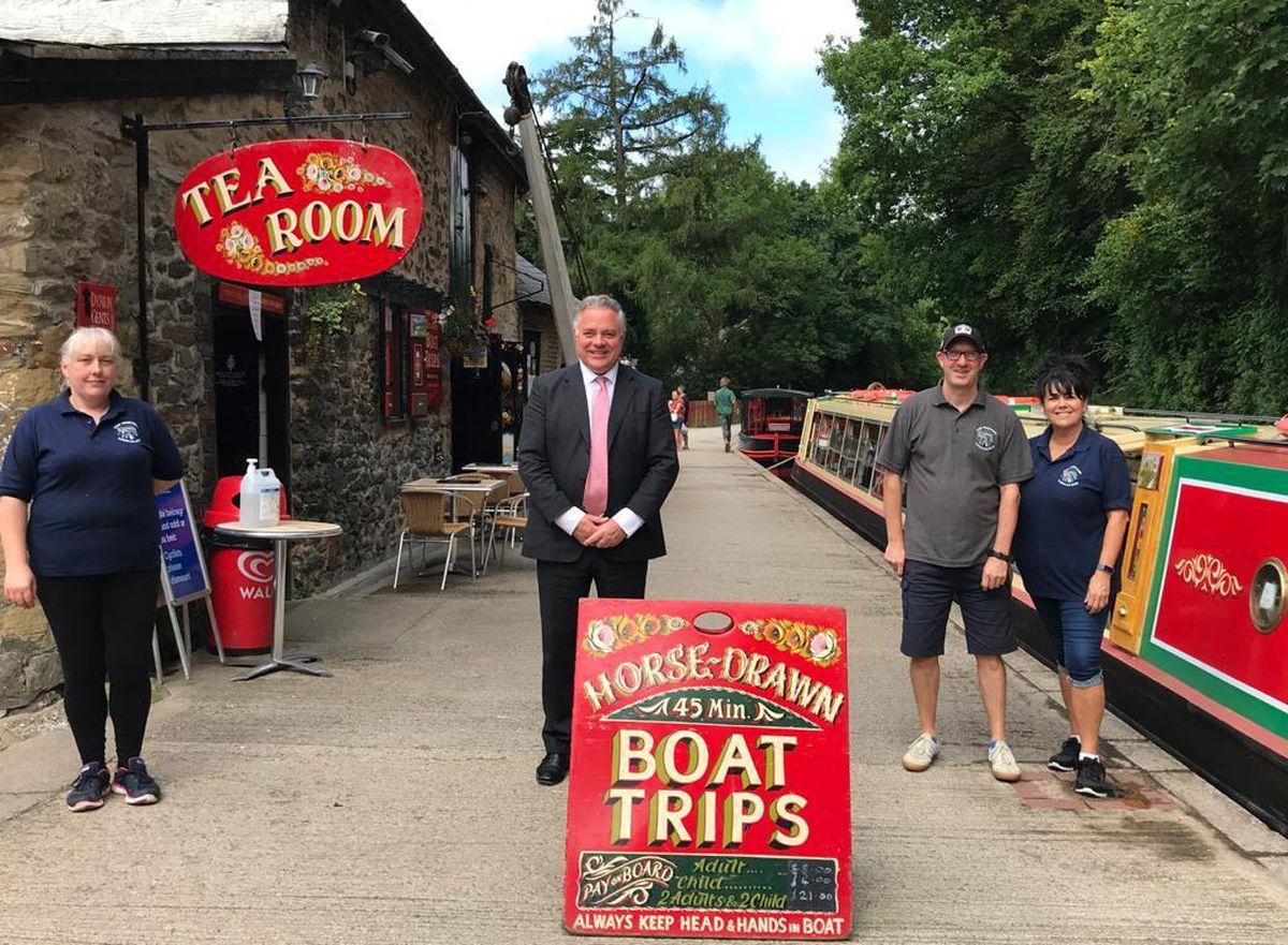 Simon Baynes MP visits Llangollen Wharf