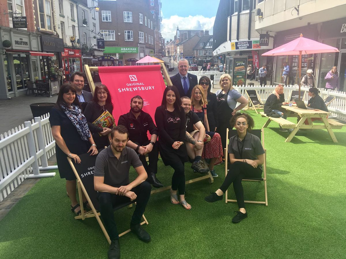 Businesses in Shoplatch celebrate the opening of the park
