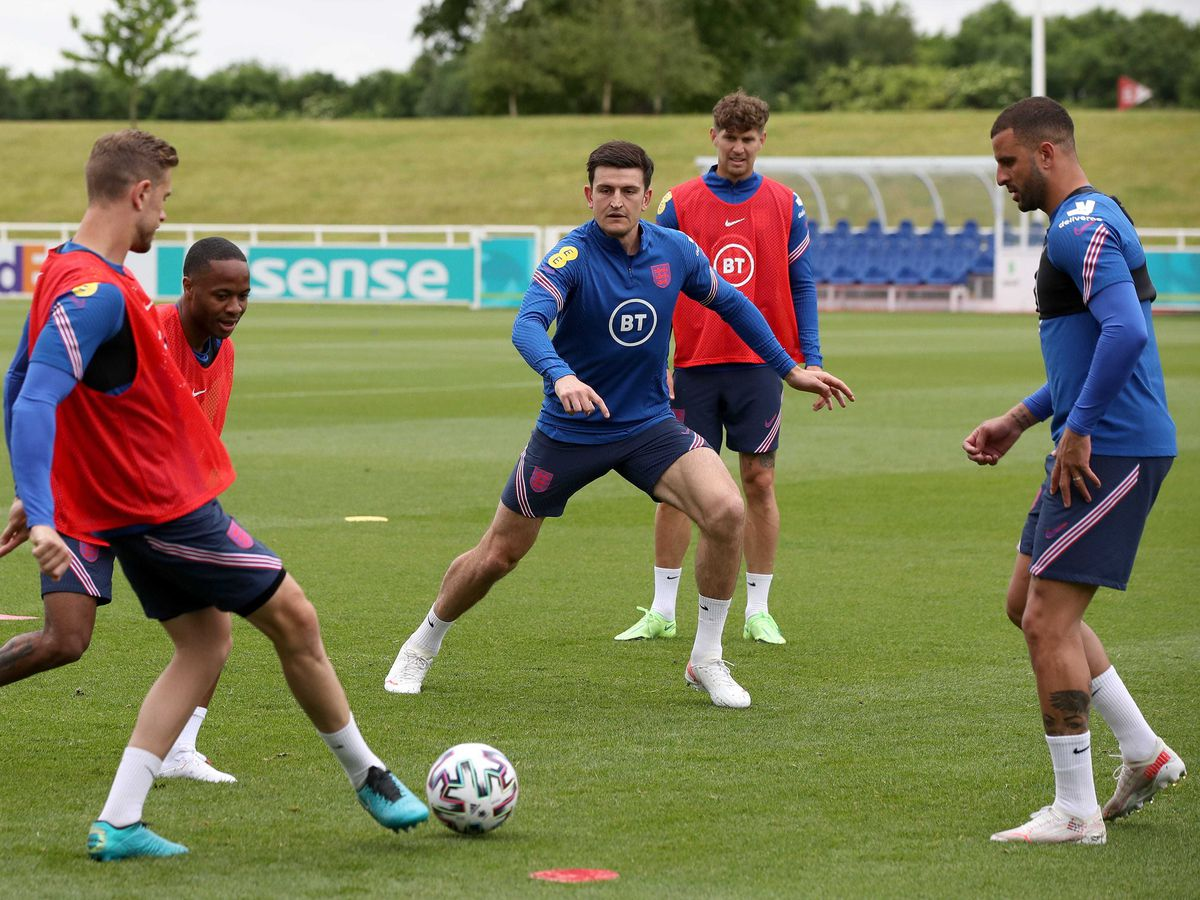 Harry Maguire trained with England on Thursday