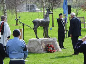 Roebuck unveiled at the memorial in Staffordshire