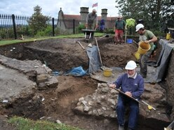 Dig uncovers the past at Oswestry Castle