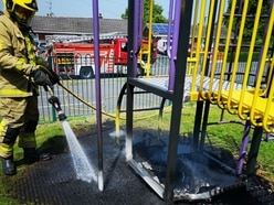 Arsonists target Telford play area