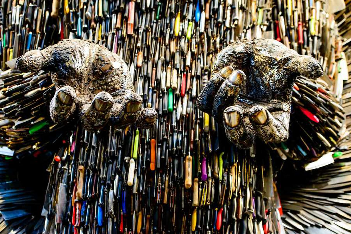 Detail from the Knife Angel
