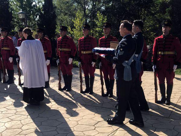 RAF airman buried in Albania