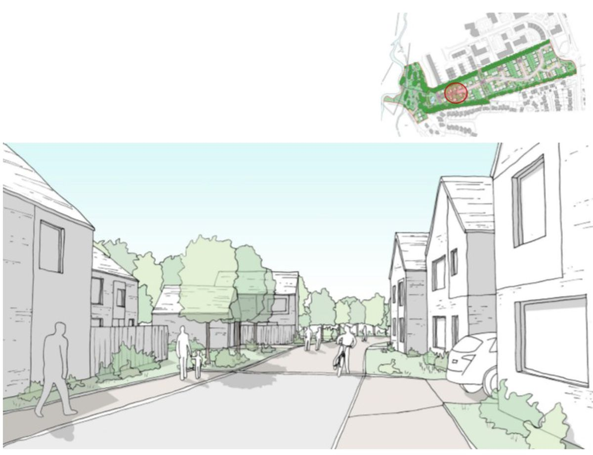 An artist's impression of part of the development. Photo: Curtin & Co