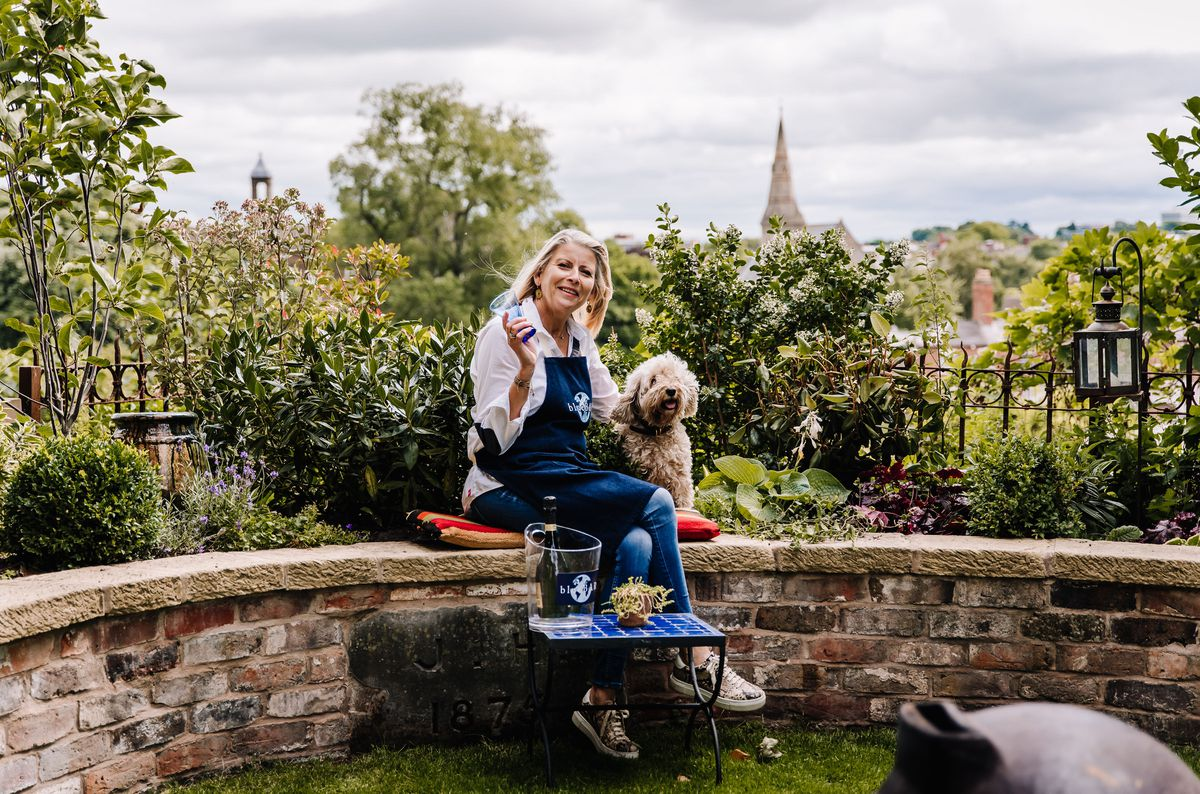 Belinda Griffiths, in the garden area. Photo: Birgitta Zoutman Photography