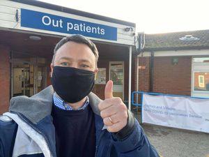 Brendan Clarke-Smith outside Retford Hospital