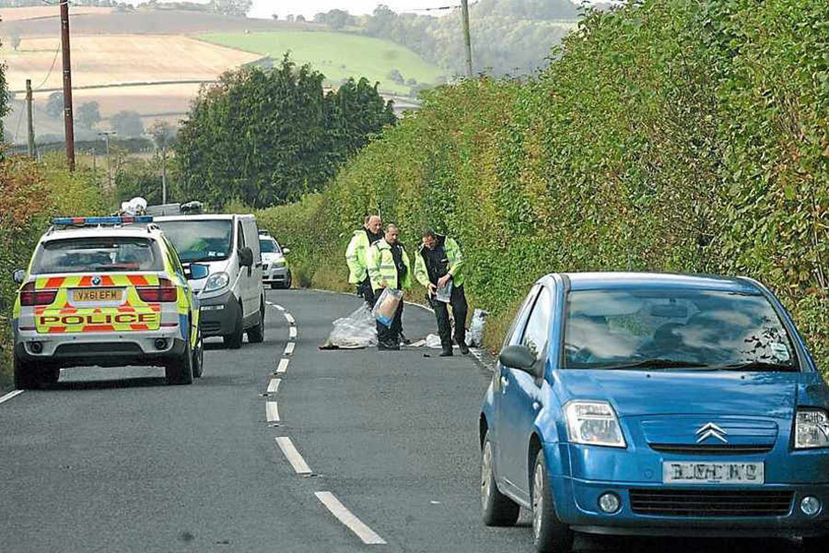 Driver 'unaware' of hitting cyclist lying in Shropshire road
