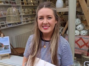 A Shropshire woman is bucking the trend by opening a new retail business which is bringing together talented artists and craftspeople from across the county. .Sam Preston has launched 'Canvas and Clay' in Ellesmere, a shop showcasing original work from local people as well as gifts, homeware products and greeting cards with a 'Shropshire meets Scandi' feel. Formerly a high-flying marketing executive with leading airlines, Sam decided to take the plunge and launch her own enterprise after completing a 'Step up' programme online for new businesses run by Bridgnorth business consultancy Good2Great. Sam is pictured outside her shop...