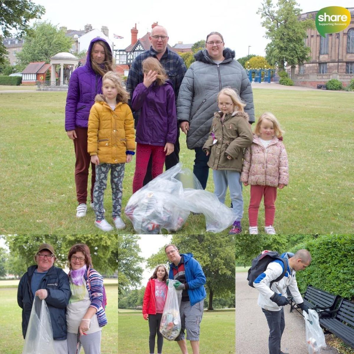 Volunteers who have helped with previous litter picks at Shrewsbury's Quarry Park