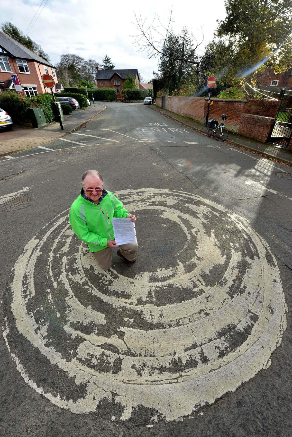 Bernie Bentick submitted a petition to Shropshire Council on behalf of Meole Traffic Group to campaign for safer roads