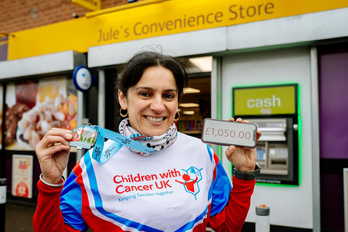 Julie Kaur Duhra has raised more than £5,000 for three charities, including £1,050 for Children with Cancer UK