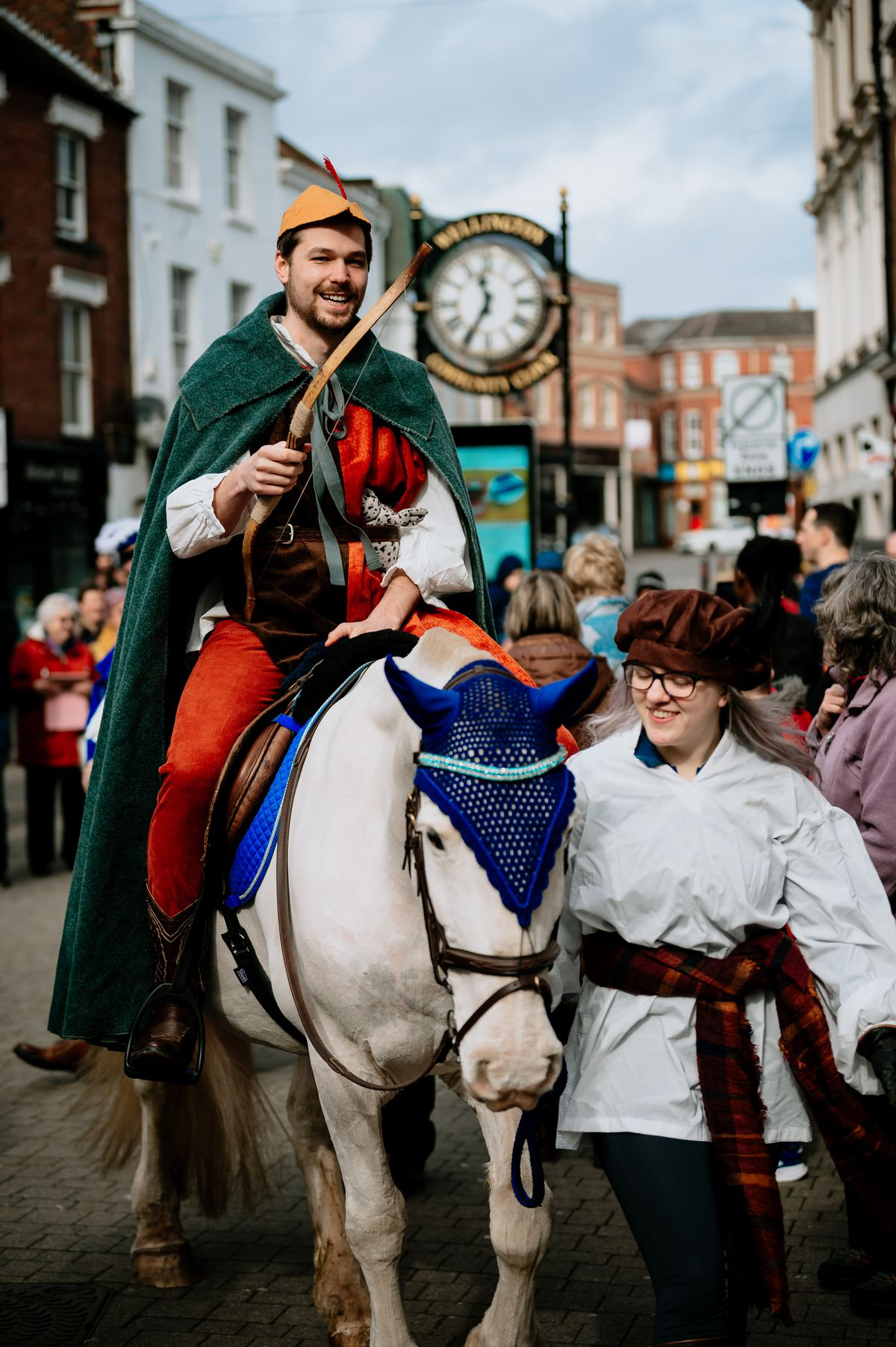 The King's herald arrives on horseback to deliver the charter