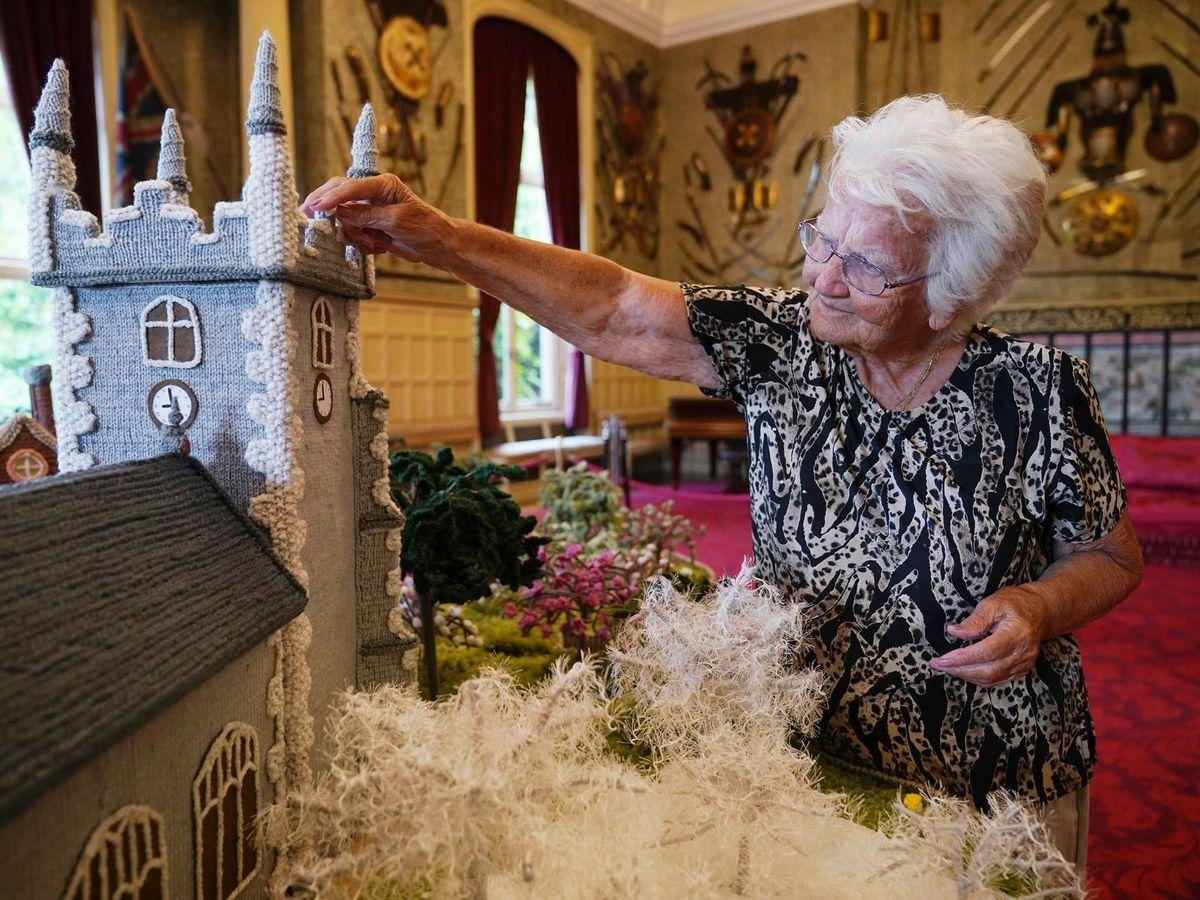 Margaret Seaman with her creation