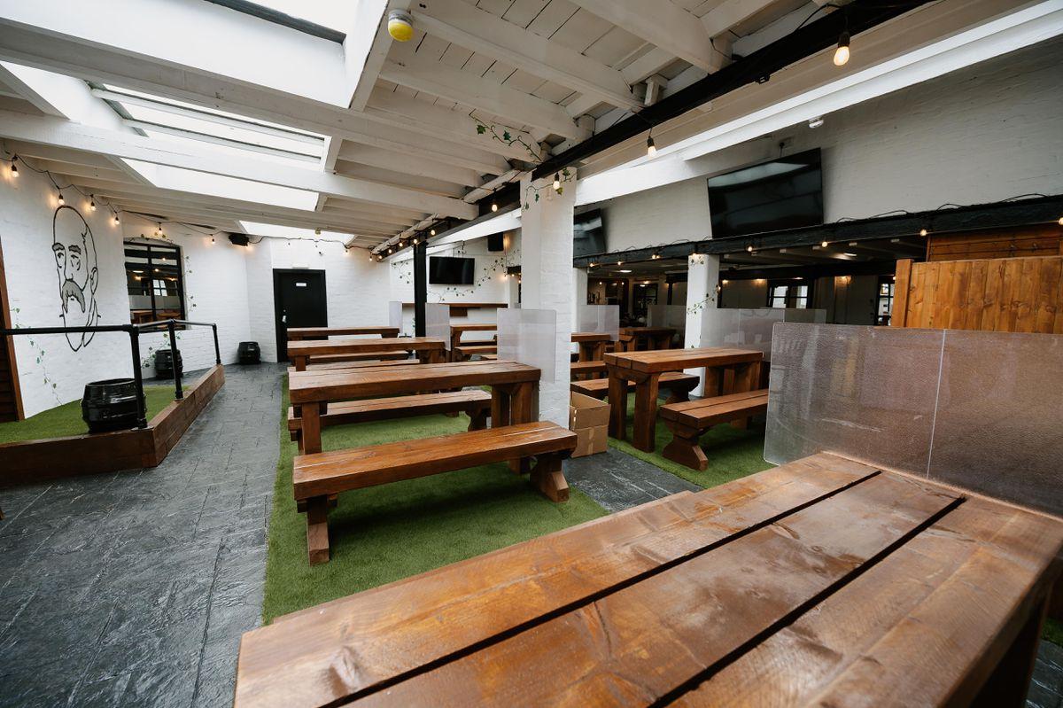 The new indoor beer garden has been completed after a major revamp