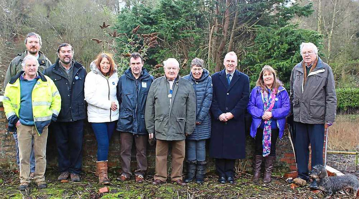 £10k grant to restore historic 'lost gardens' near Chirk
