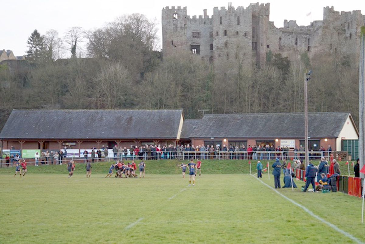 This pre-Covid picture shows the picturesque setting of the ground at The Linney in the shadow of Ludlow Castle.